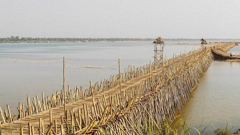 Conoce el puente de bambú más largo del mundo que se desarma cada año